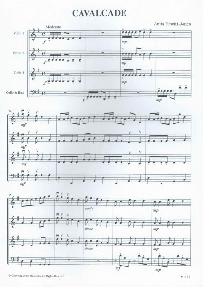 Cavalcade - Score Page 1